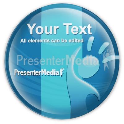 Custom Badge Button Presentation clipart
