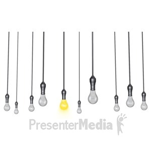 ID# 14787 - Hanging Lights Standout - Presentation Clipart