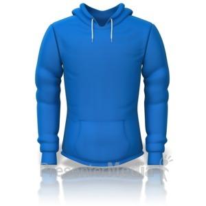 ID# 14791 - Front of a Sweatshirt - Presentation Clipart