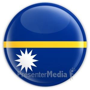 ID# 14794 - Nauru Badge - Presentation Clipart
