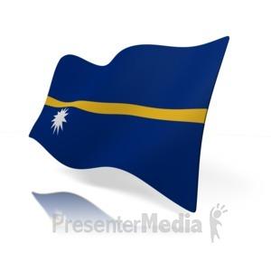 ID# 14796 - Nauru Flag - Presentation Clipart