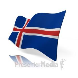 ID# 14798 - Iceland Flag - Presentation Clipart