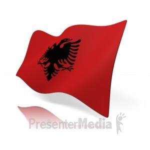 ID# 14800 - Albania Flag - Presentation Clipart