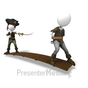ID# 14805 - Pirate Walk The Plank - Presentation Clipart