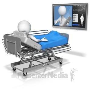 ID# 14806 - Doctor Conference In With Patient - Presentation Clipart