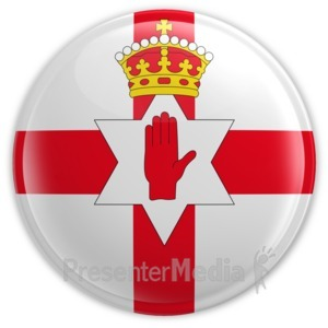 ID# 14823 - Northern Ireland Badge - Presentation Clipart