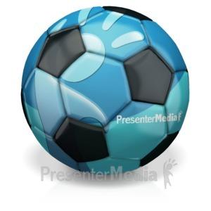 ID# 14849 - Custom Soccer Ball - Presentation Clipart