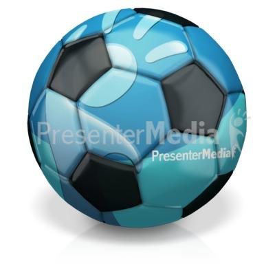 Custom Soccer Ball Presentation clipart