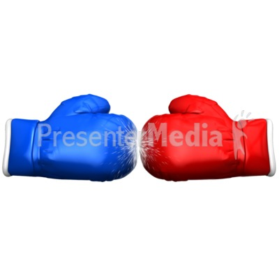 Boxing Glove Faceoff PowerPoint Clip Art