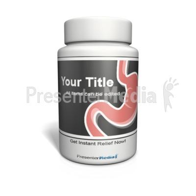 Pill Bottle Custom Presentation clipart