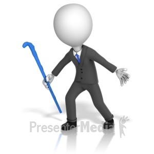 ID# 14903 - Business Figure Herding - Presentation Clipart