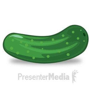 ID# 14908 - Cucumber Illustration - Presentation Clipart