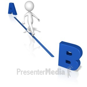 ID# 14922 - Figure A To B the Quickest Way - Presentation Clipart