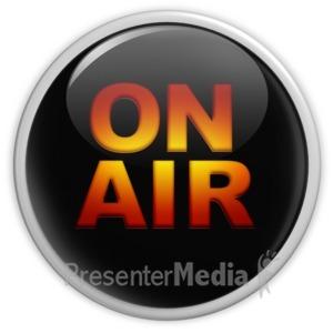 ID# 14930 - On Air Black Button - Presentation Clipart