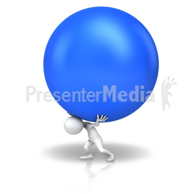Carry The Ball PowerPoint Clip Art