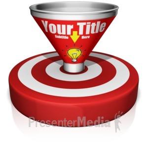 ID# 14942 - Custom Funnel Bullseye - Presentation Clipart