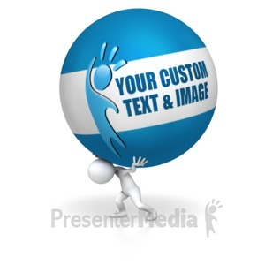 ID# 14949 - Carry The Ball - Presentation Clipart