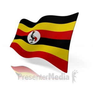 ID# 14964 - Uganda Flag - Presentation Clipart