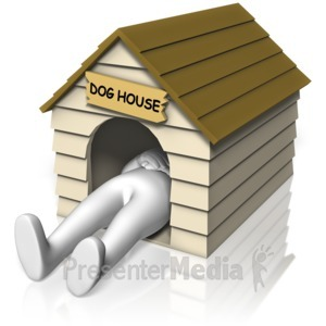ID# 14971 - In The Dog House - Presentation Clipart