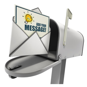 ID# 14974 - Open Custom Letter In Mailbox - Presentation Clipart
