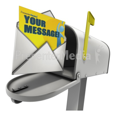 Open Custom Letter In Mailbox Presentation clipart