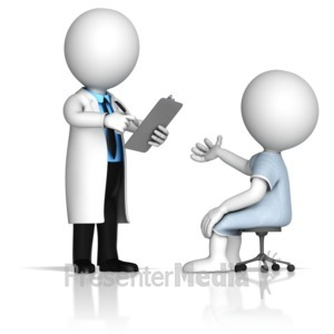 ID# 14981 - Taking Notes From Patient - Presentation Clipart