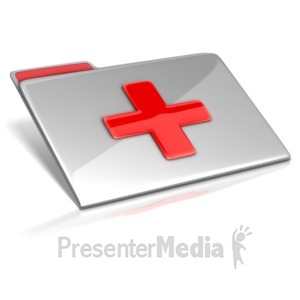 ID# 14998 - Medical File - Presentation Clipart