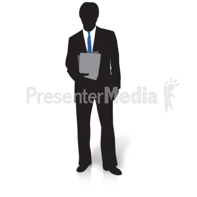 Businessman Silhouette Files PowerPoint Clip Art