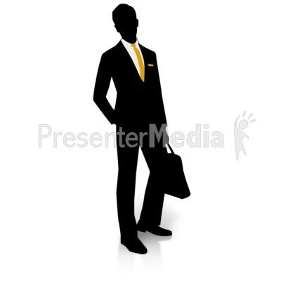 Businessman Silhouette Pocket PowerPoint Clip Art