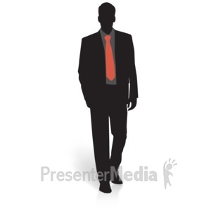 ID# 15017 - Businessman Silhouette Basic - Presentation Clipart