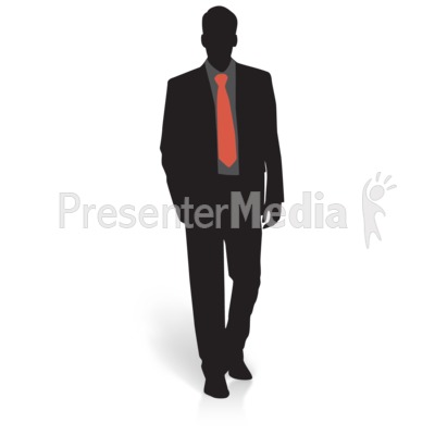 Businessman Silhouette Basic PowerPoint Clip Art