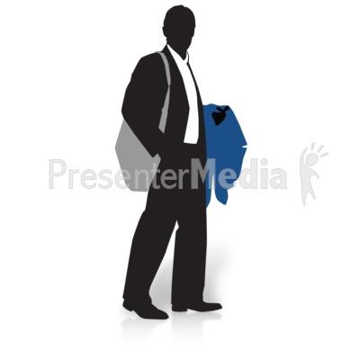 Businessman Silhouette Coat PowerPoint Clip Art