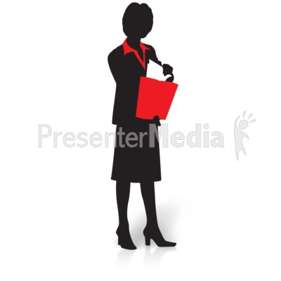 Business Woman Clipart Silhouette