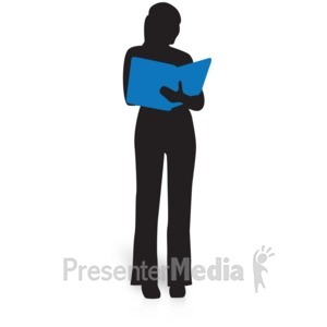 ID# 15032 - Businesswoman Silhouette Study - Presentation Clipart