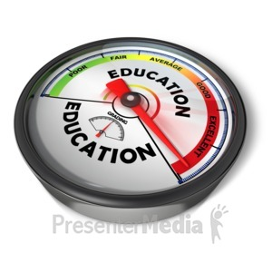 ID# 15054 - Gauge Education Excellent - Presentation Clipart