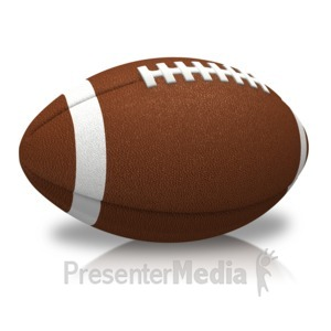 ID# 15073 - Single Football - Presentation Clipart