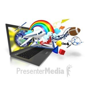 ID# 15076 - Laptop Education Imagination - Presentation Clipart