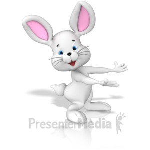 ID# 15087 - Bunny Presenting - Presentation Clipart