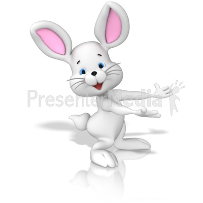Bunny Presenting PowerPoint Clip Art