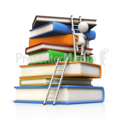 Presenter media powerpoint templates 3d animations and clipart id 15090 figure climbs large book stack to top presentation clipart toneelgroepblik Gallery