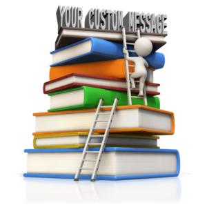 ID# 15091 - Figure Climb Large Book Stack Custom - Presentation Clipart