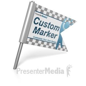 ID# 15124 - Custom Flag Pin - Presentation Clipart