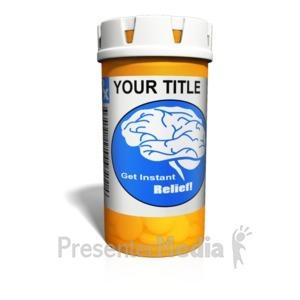 ID# 15129 - Custom Orange Medication Bottle - Presentation Clipart