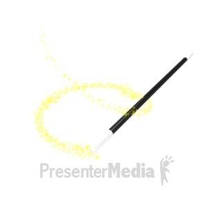ID# 15145 - Magician Wand Swirl - Presentation Clipart