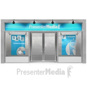 ID# 15157 - Glass Store Front - Presentation Clipart