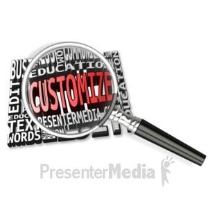 ID# 15168 - Magnify Word Custom Text Mosaic - Presentation Clipart