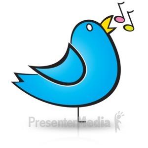 ID# 15172 - Bird Song Notes - Presentation Clipart