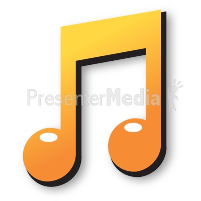 Colored Music Note PowerPoint Clip Art
