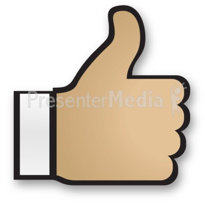 Hand Thumbs Up Cuff PowerPoint Clip Art