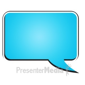 ID# 15177 - Square Bubble Chat - Presentation Clipart